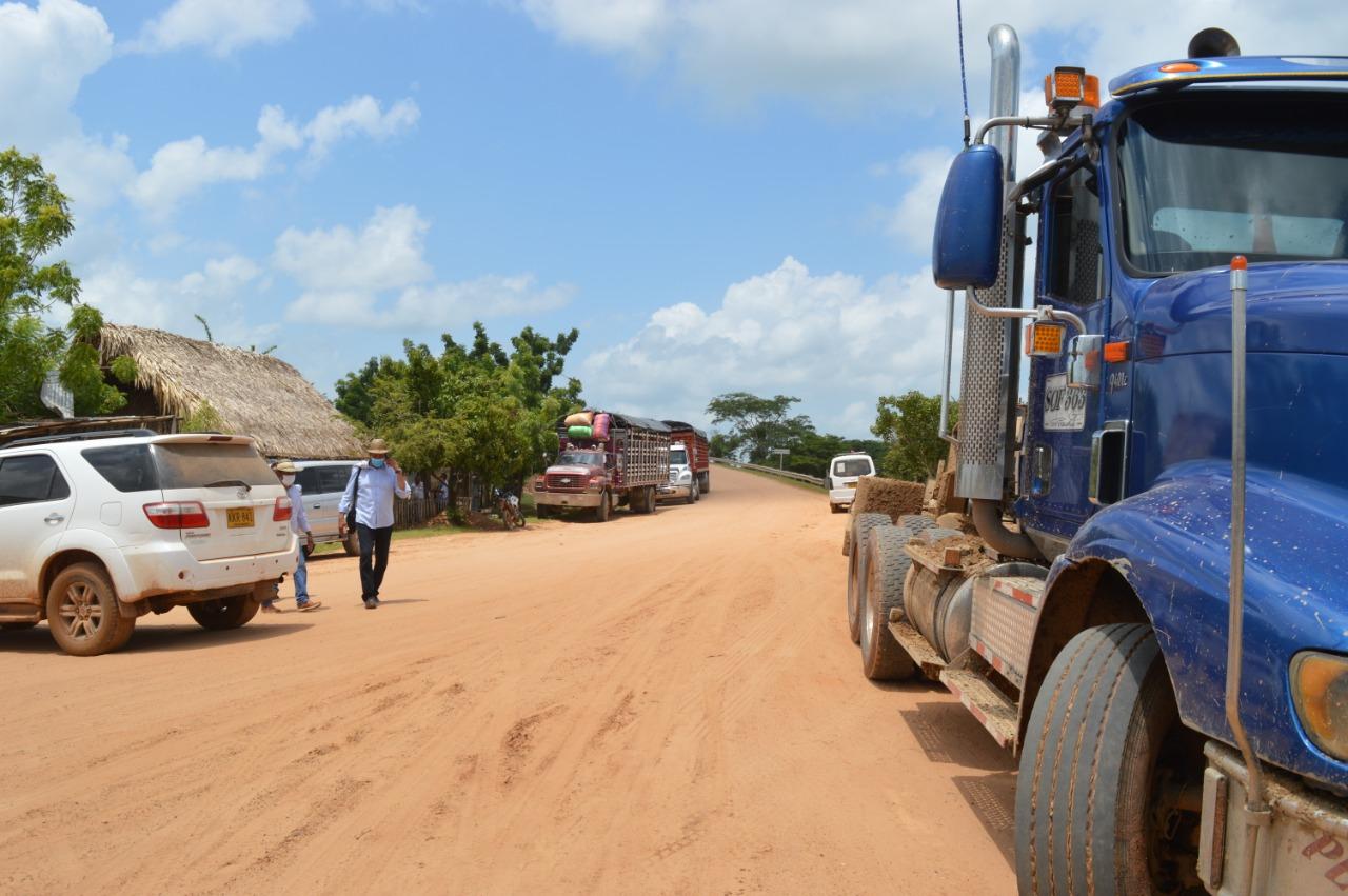 Los menores de edad son utilizados como guía de los transportistas para circular por Guamal.