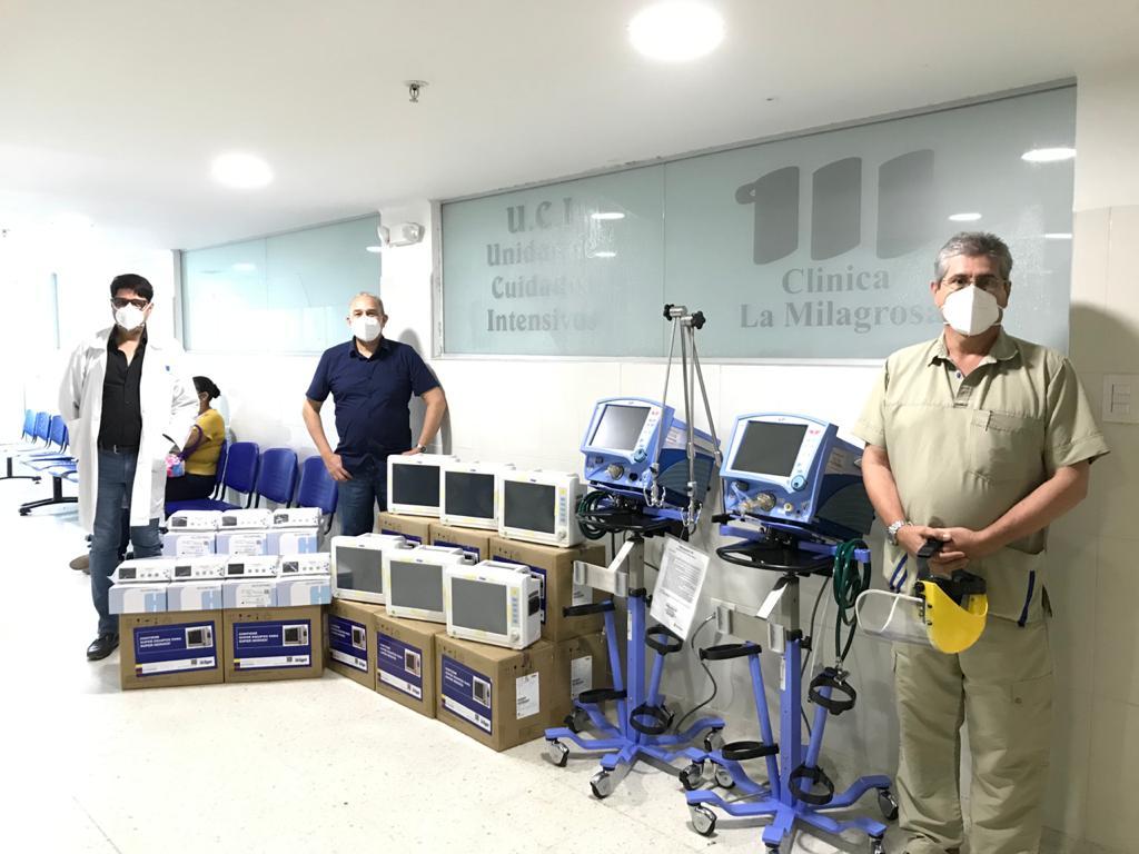 Donación de equipos médicos.