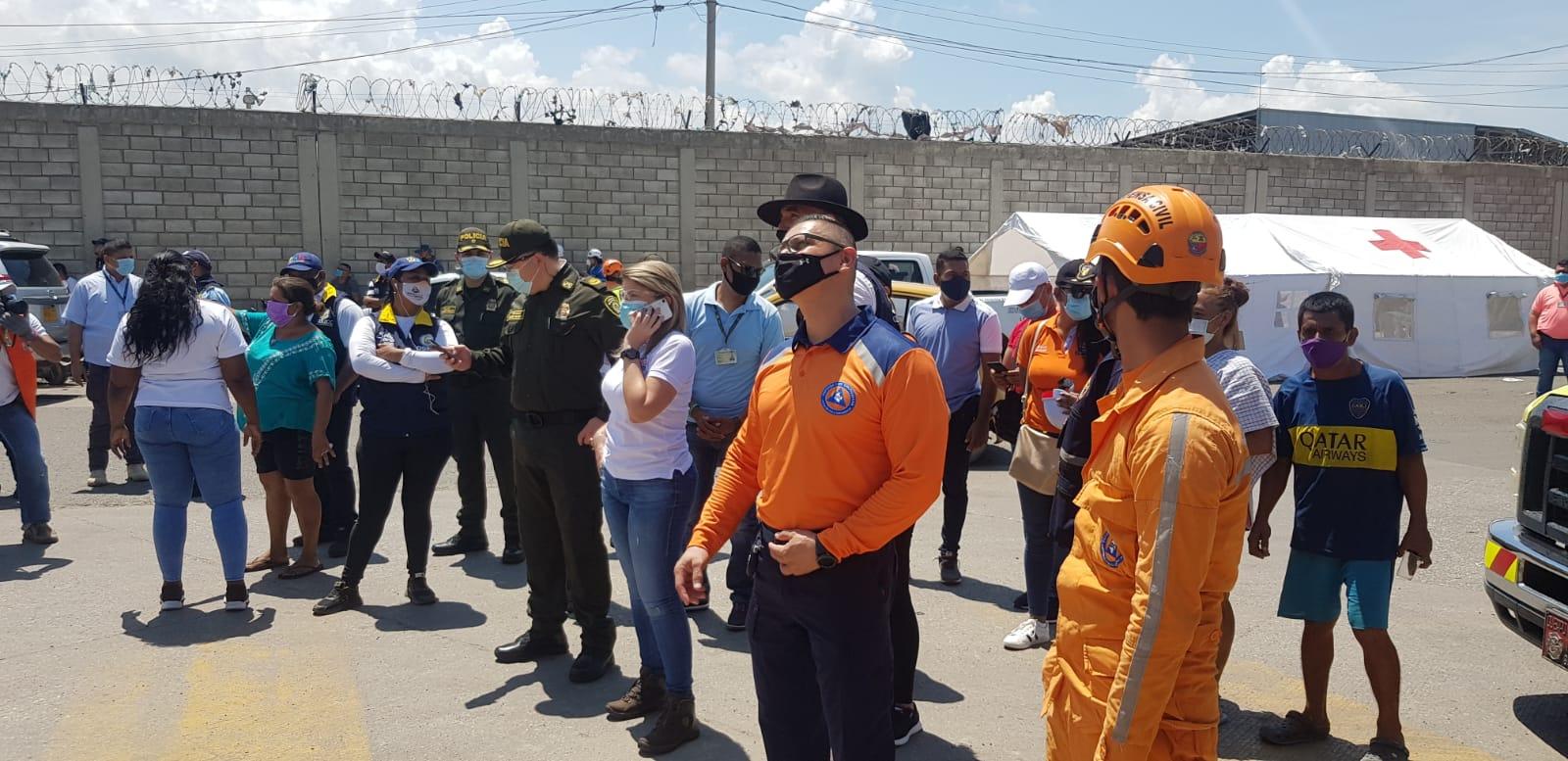Presencia de autoridades en la zona.