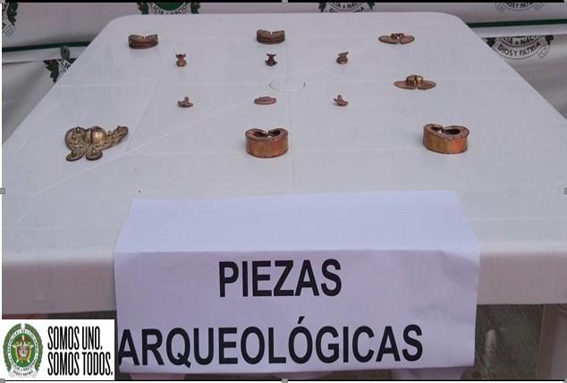 Tenía en su poder 13 piezas arqueológicas.