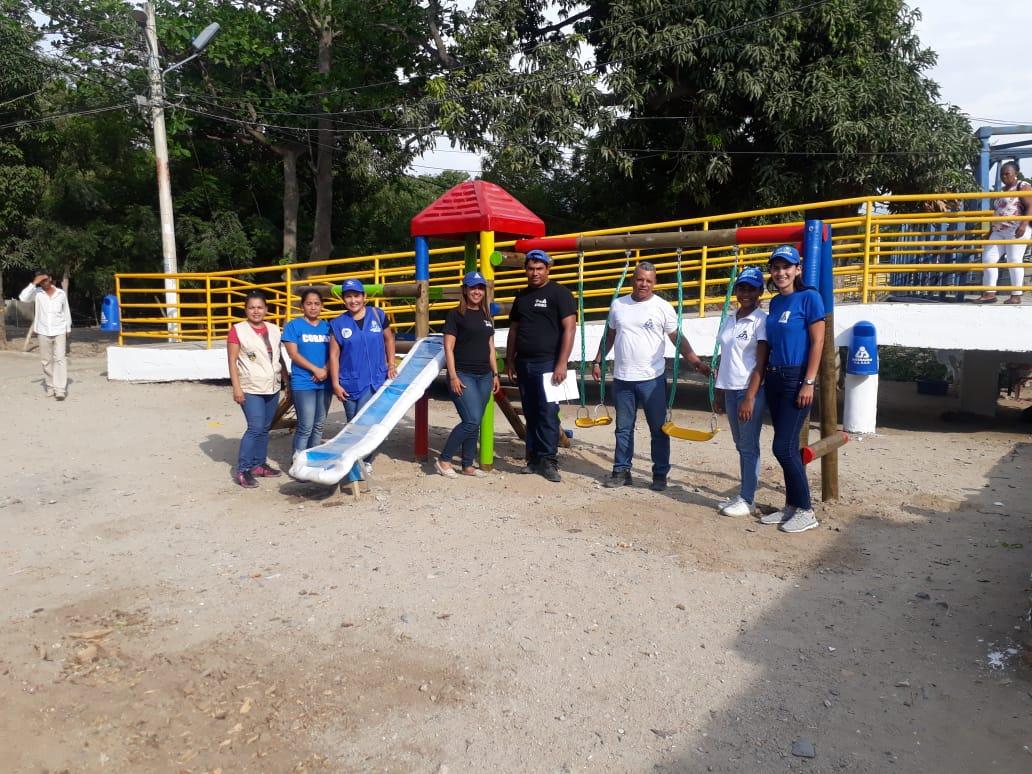 La comunidad del Barrio Tayrona se puso de acuerdo, participó en el ecoparque y se benefició del programa.