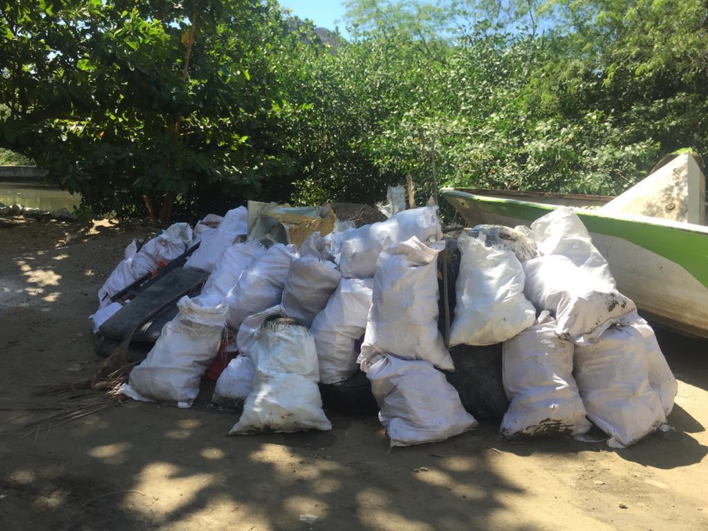 Residuos extraídos del río.