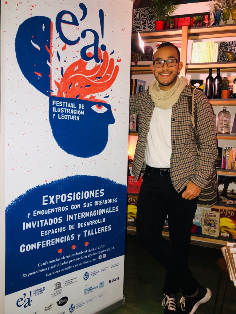 David Escobar en el festival uruguayo.