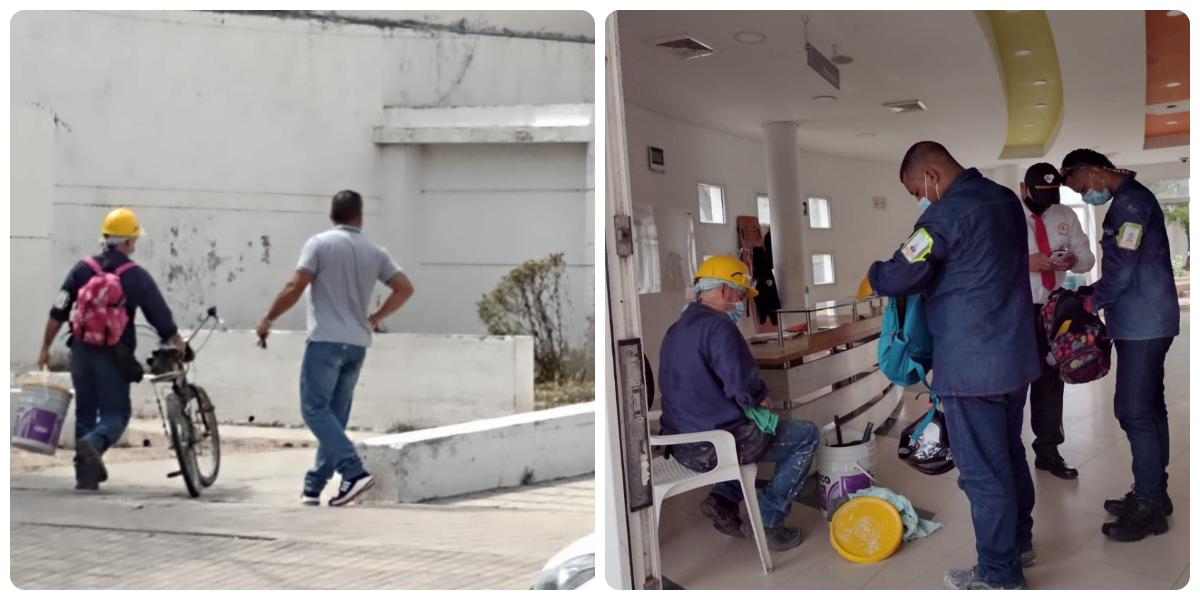 Personal ya está trabajando en la rehabilitación de la clínica.