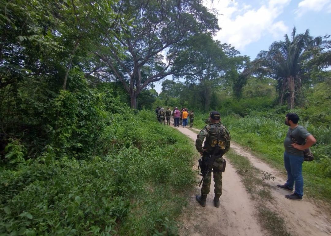 Tropas del Gaula Militar participaron en la liberación de los secuestrados.