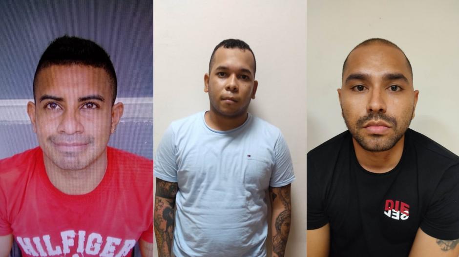 """Joel José Yanez Vásquez, alias """"Piraña""""; William Enrique Vizcaino Herrera, alias """"El menor"""", y Ever Enrique Falx Díaz, alias """"Evercito"""", capturados."""