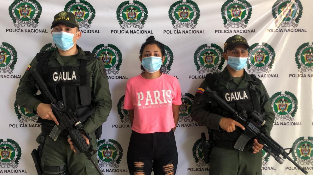 Deyanyelis Patricia Terán Rolong, alias 'Patricia', el día de su captura.