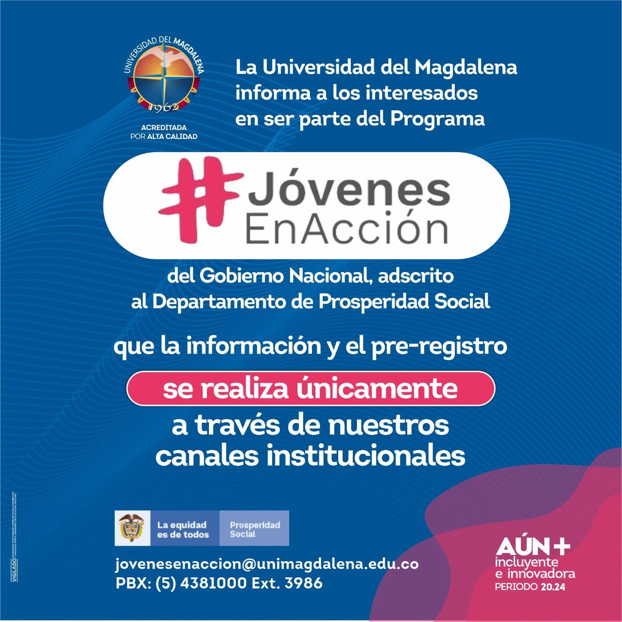 Mensaje de la Universidad del Magdalena.