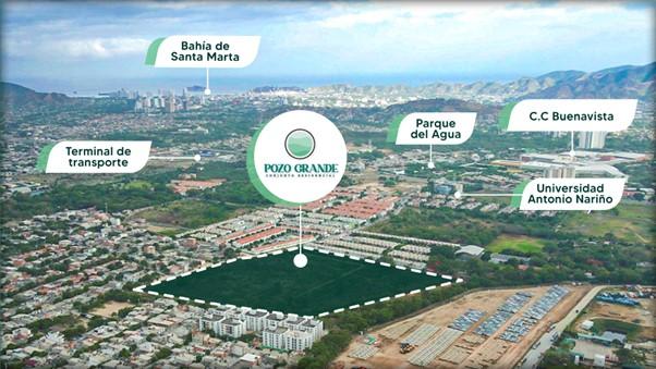 Vista de la locación de Pozo Grande, proyecto de Mipko.