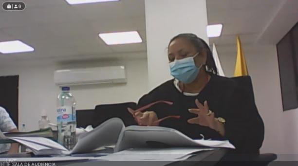 Juez Olmis Cotes, durante la lectura.