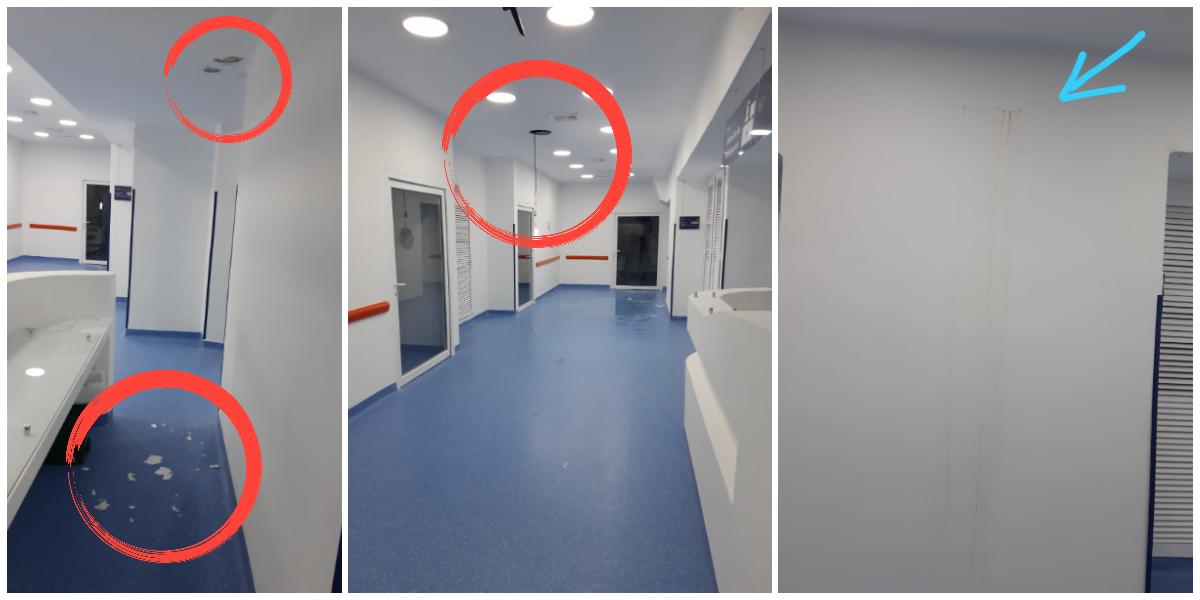 Evidente deterioro del hospital pese a que hay un contrato de mantenimiento vigente.