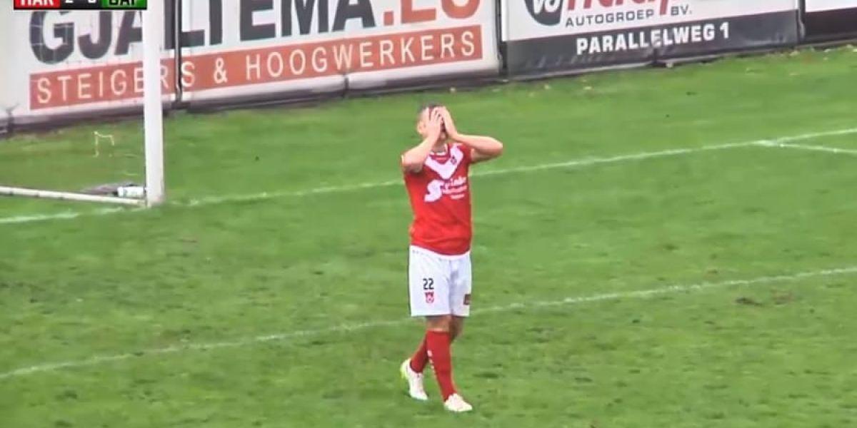 Dennis Van Duinen, después de fallar el gol
