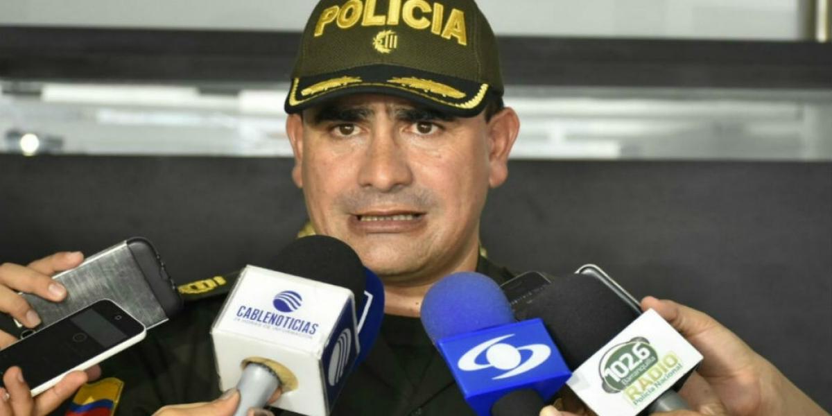 oronel José Palomino, subcomandante de la Policía Metropolitana de Barranquilla