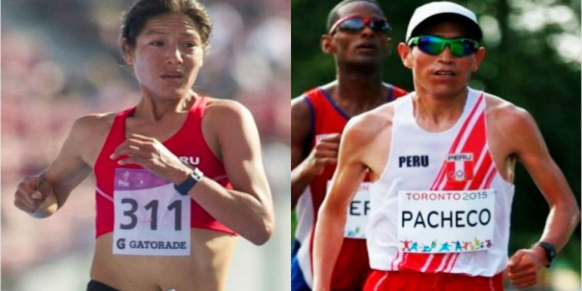 Inés Melchor y Raúl Pacheco, maratonistas