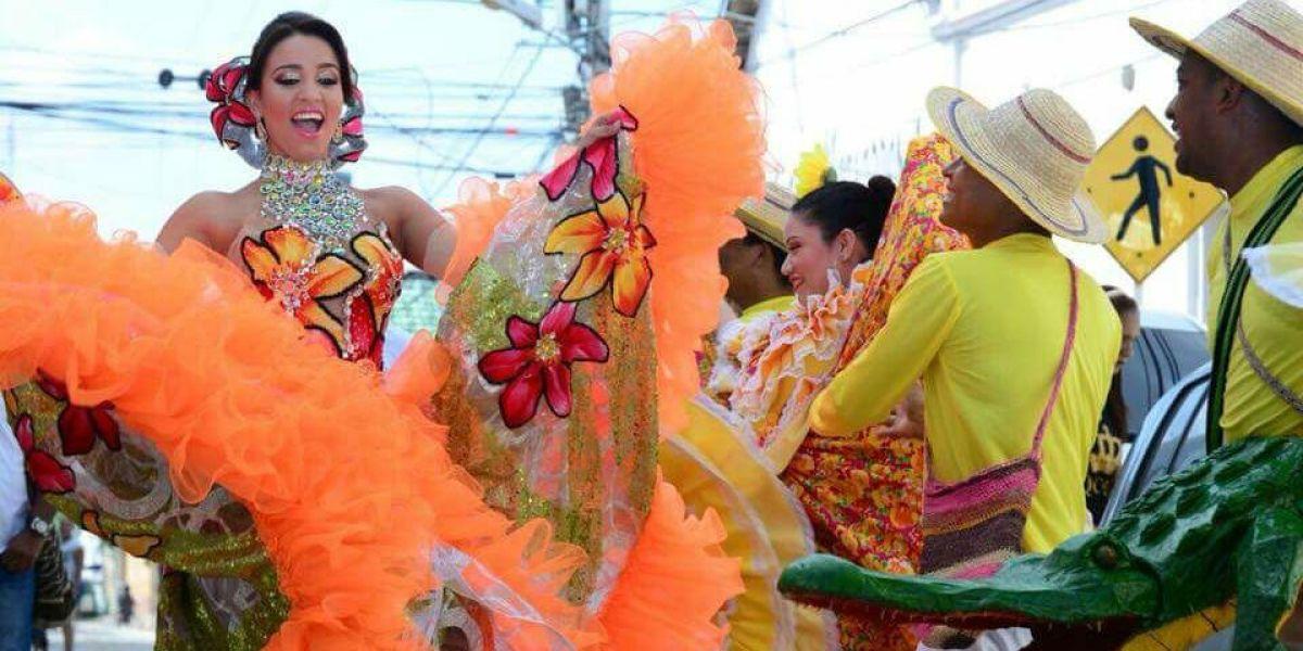 Angie Guiselle Granadillo Arias, soberana central al municipio de Ciénaga en el 'Festival Nacional del Caimán Cienaguero y Carnaval 2018'.