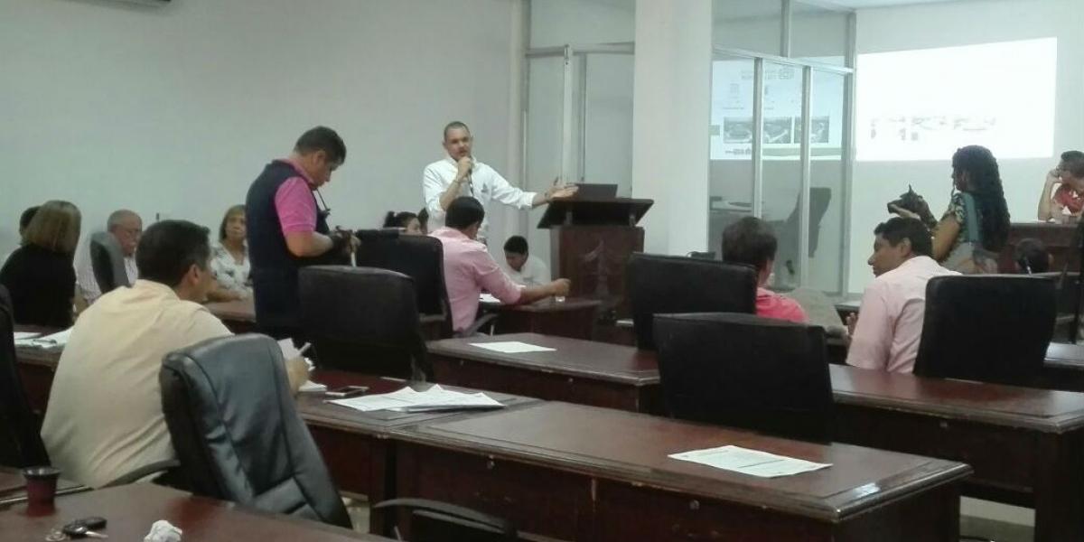 Luis Guillermo Rubio, director de los Juegos Bolivarianos durante su intervención en el Concejo.