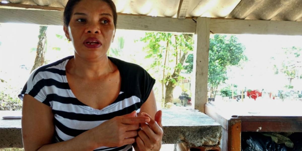 La exguerrillera de las FARC, alias 'Karina'