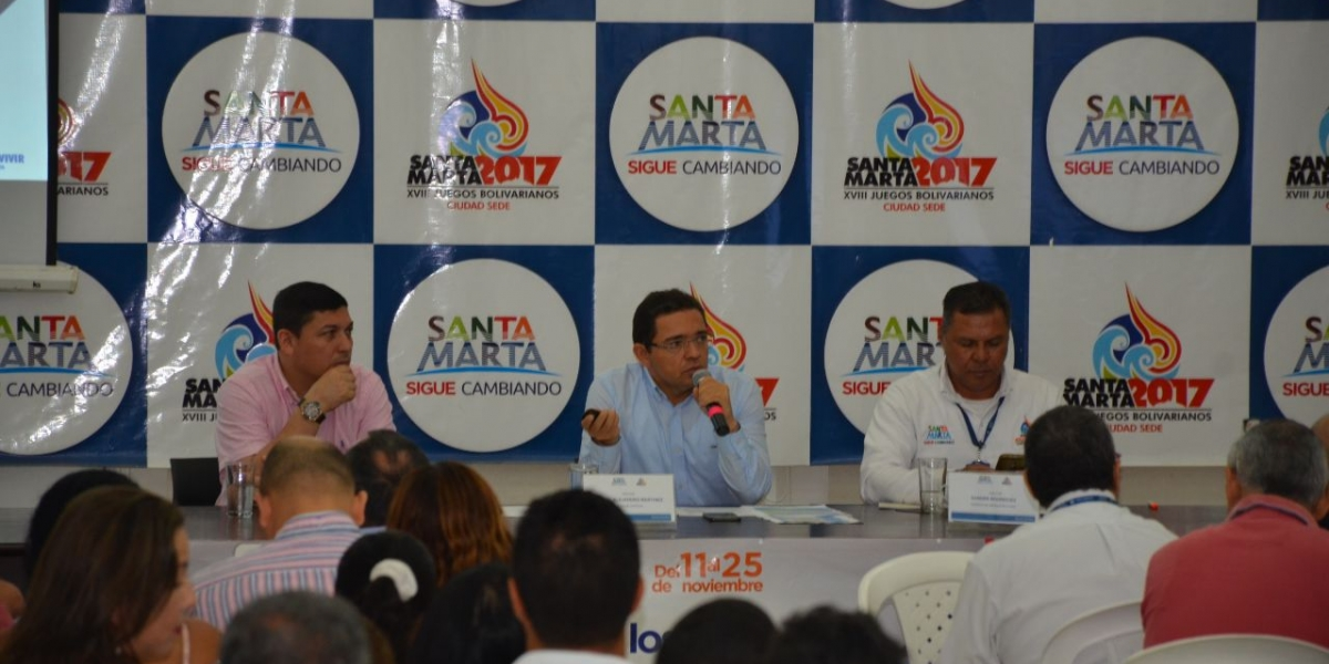 Alcalde Martínez, durante la décima audiencia de avances de obras de infraestructura