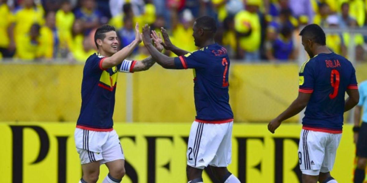 James Rodríguez y Cristian Zapata.