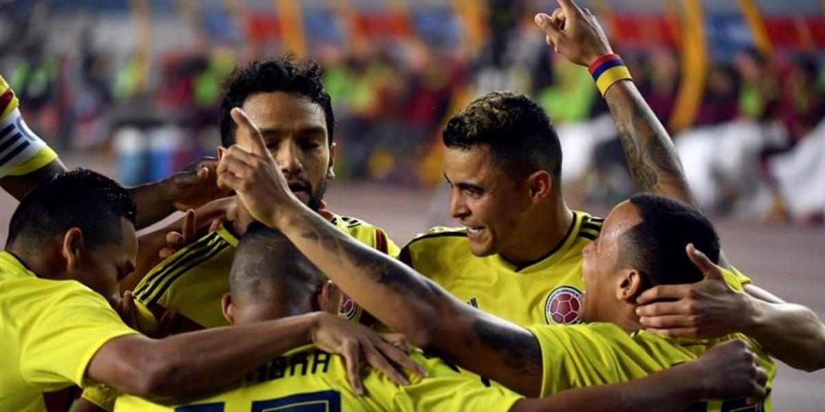 Celebración del primer gol.