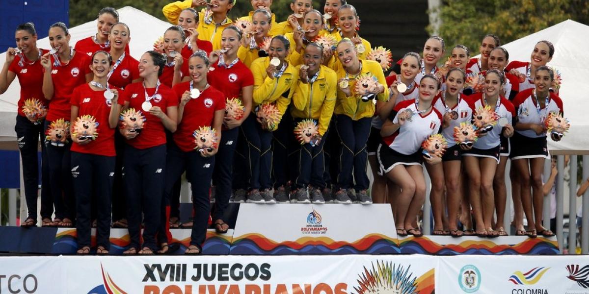 Colombia lidera el medallero de los Bolivarianos
