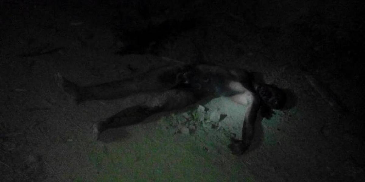 Cadáver incinerado de presunto asesino.