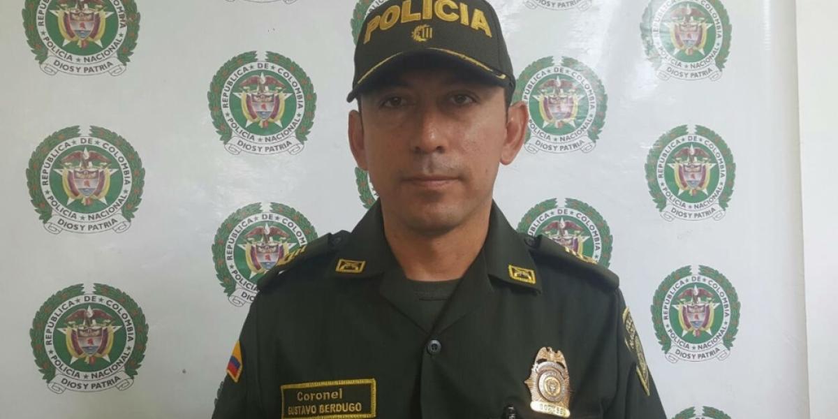 Coronel Gustavo Berdugo Garavito, comandante de la Metropolitana de Santa Marta.