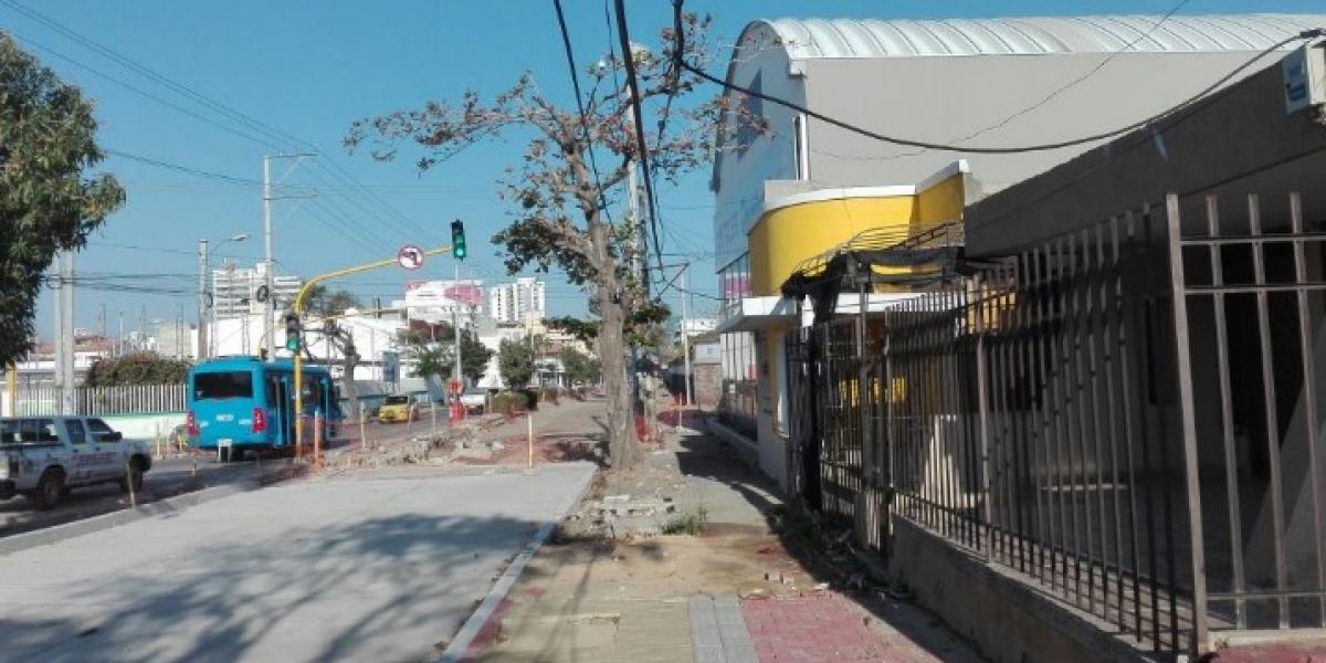 Esta es una de las obras paralizadas, en la Calle 22.