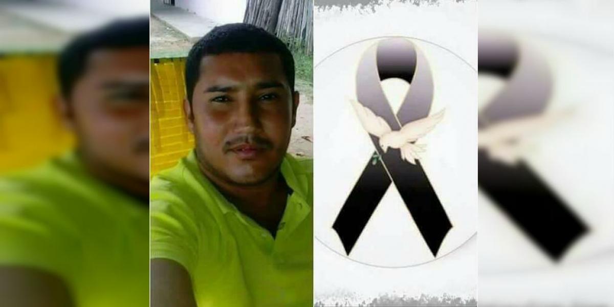 Osman Gabriel Navarro Mejía falleció en el volcamiento de la camioneta.
