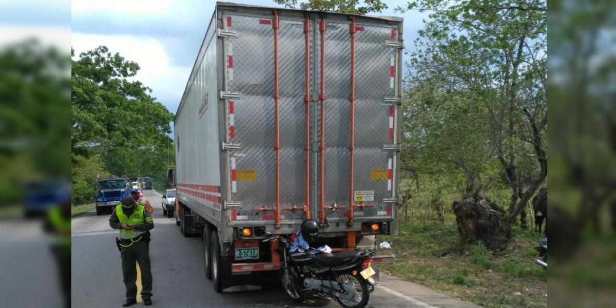 Así quedó la moto en la que murió Edgardo de la Cruz Barrios, este miércoles.