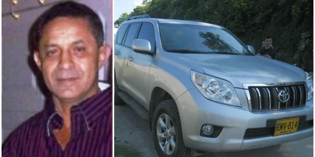 Rafael Jaraba fue secuestrado y trasladado en su propio carro.