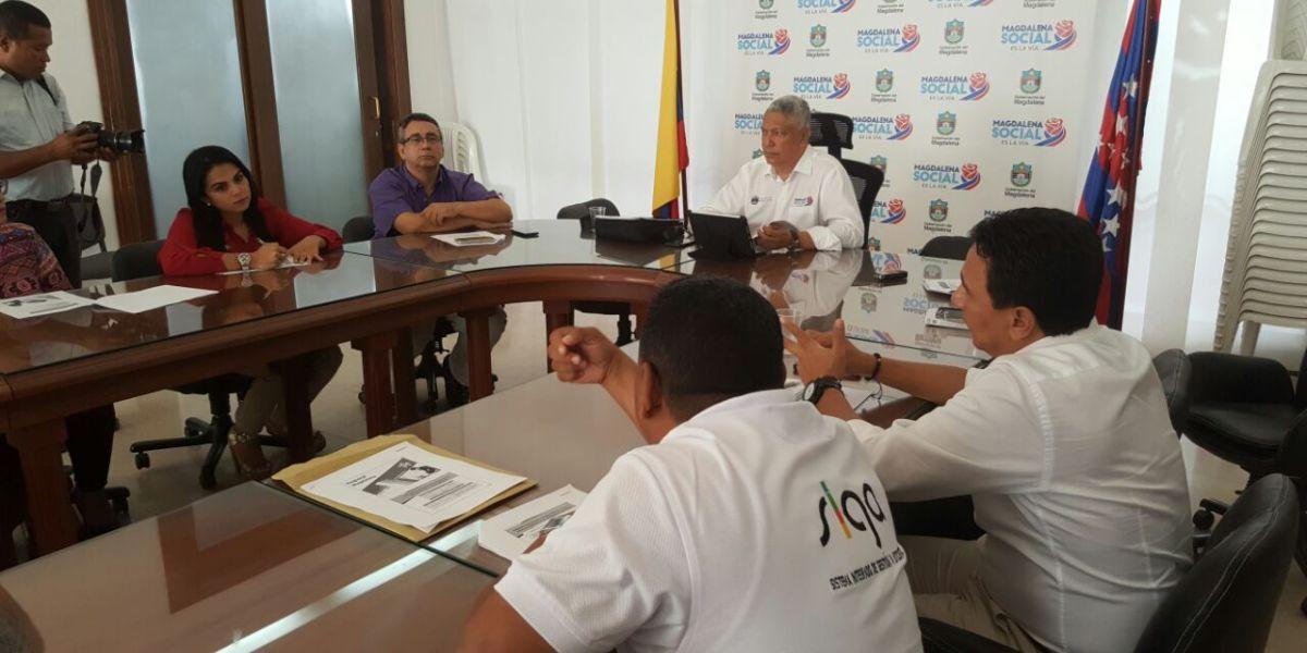Aspecto de la reunión desarrollada en las instalaciones de la Gobernación.