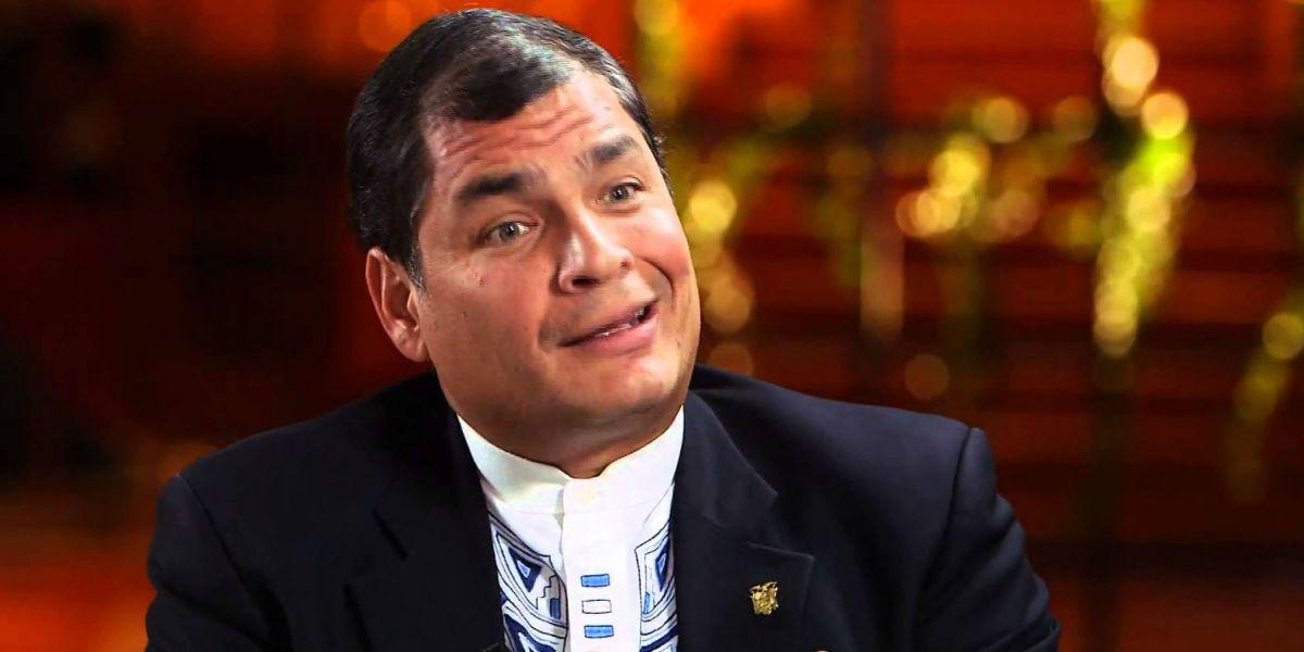 Presidente de Ecuador Rafael Correa.
