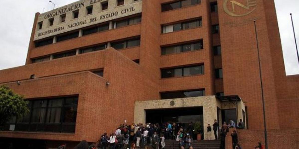 Sede del Consejo Nacional Electoral en Bogotá.