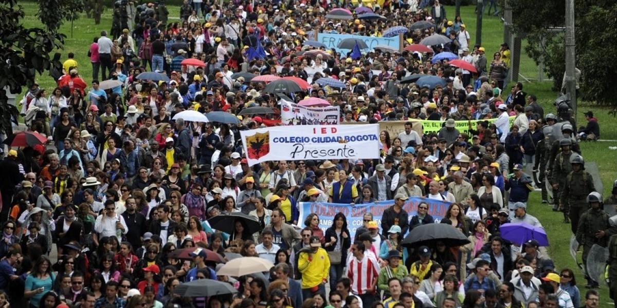 La protesta docente en Colombia se mantiene, al no haber negociación con el Gobierno