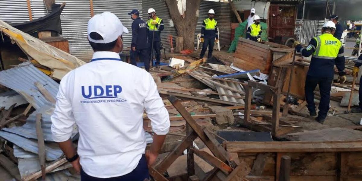 La Unidad Defensora del Espacio Público (Udep) lideró el proceso.