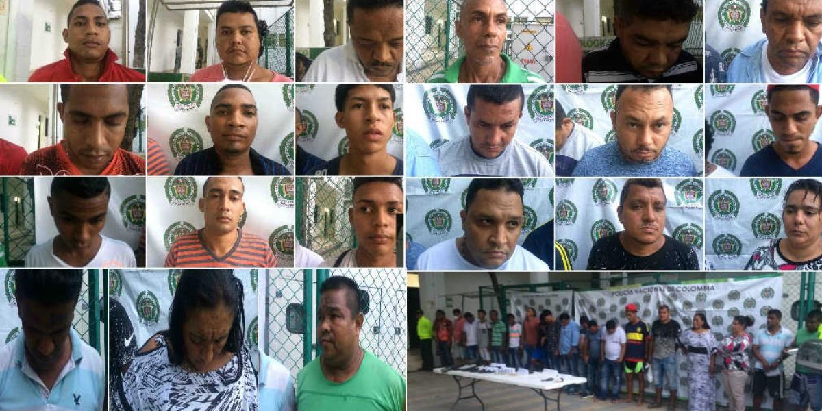 Los detenidos fueron puesto a disposición de autoridades.