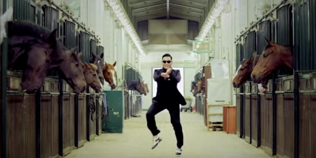 Captura de YouTube, canción 'Gangnam Style'.