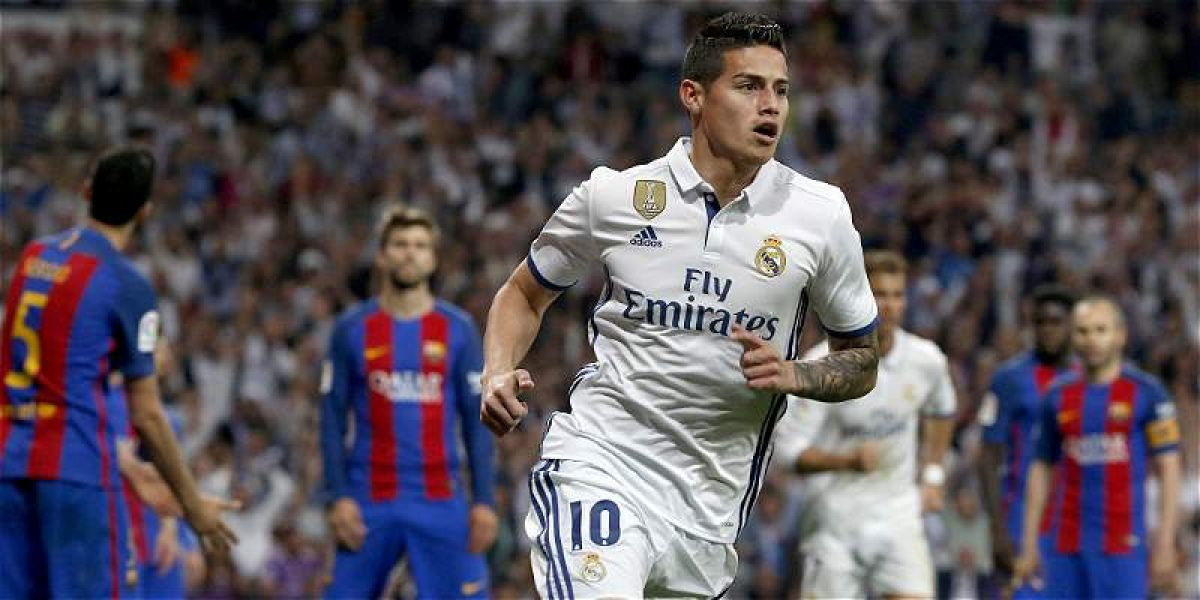 James Rodríguez jugó tres temporadas en el Real Madrid.
