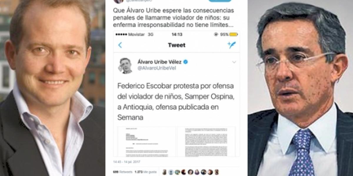 Periodistas y la FLIP rechazan ataques de Álvaro Uribe al columnista Daniel Samper.