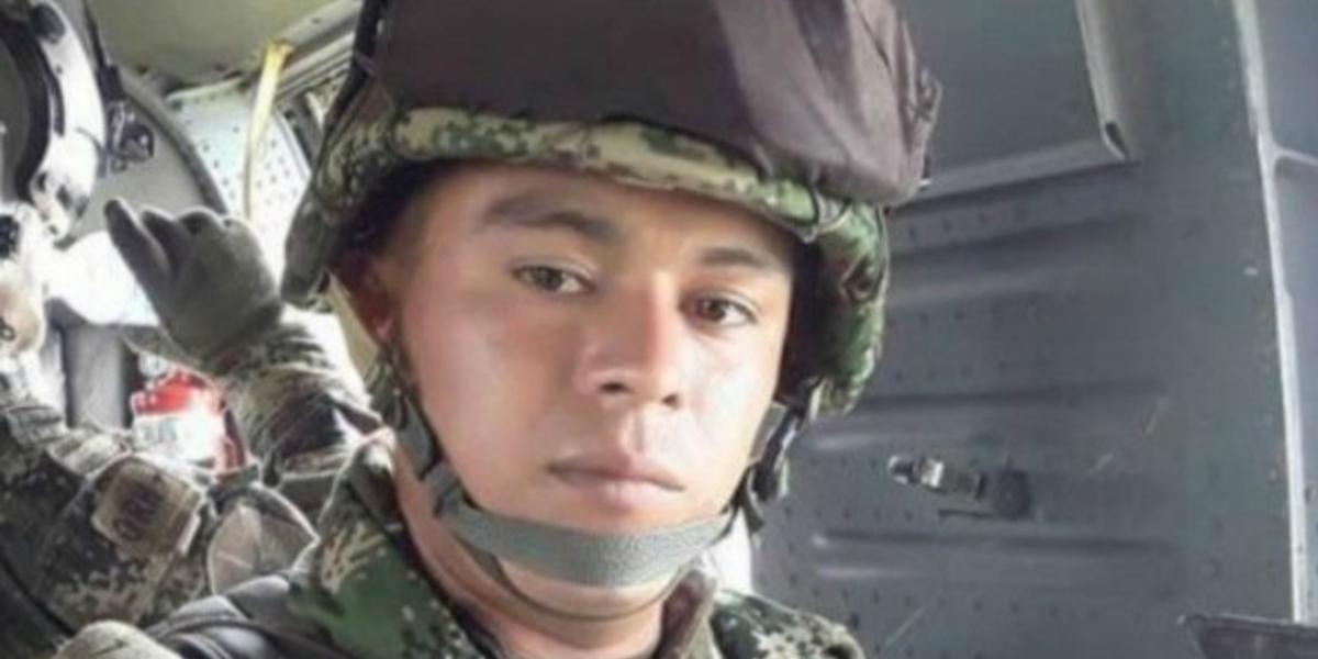 El soldado John Fredy Gómez Salazar.