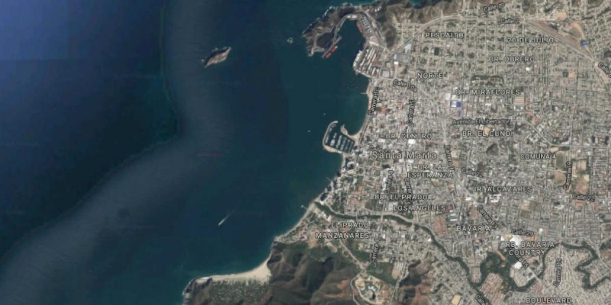 Vista aérea de la zona donde se registró el fenómeno.