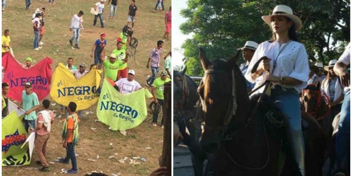Las fiestas de Santa Ana también tuvieron sus enfrentamientos políticos.