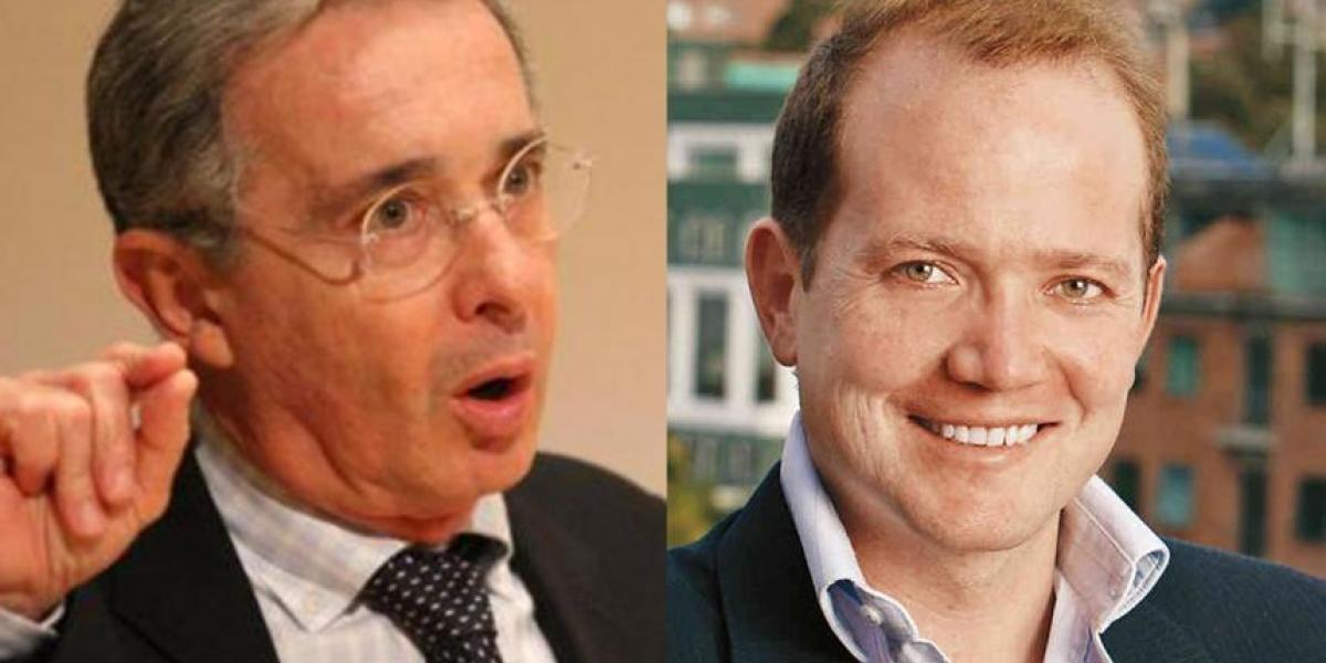 Álvaro Uribe y Daniel Samper. Fotomontaje.