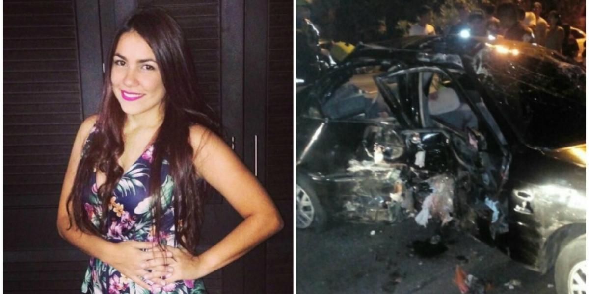 La joven María Alejandra Moscarella resultó herida en el accidente de tránsito.