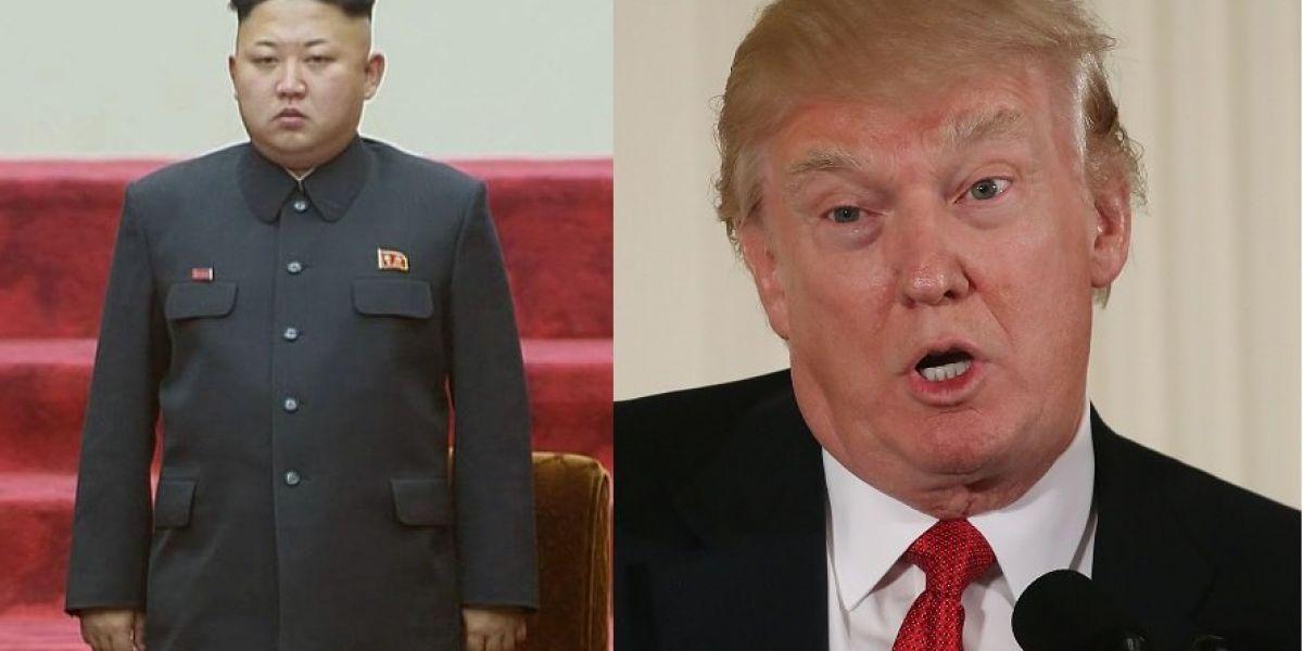 """Donald Trump responderá con """"fuego y furia"""" a Corea del Norte."""