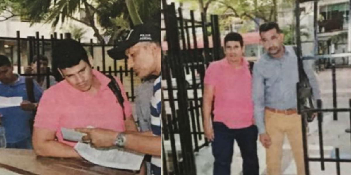 Momentos cuando Christian Mercado se entrega en la Fiscalía de Santa Marta.
