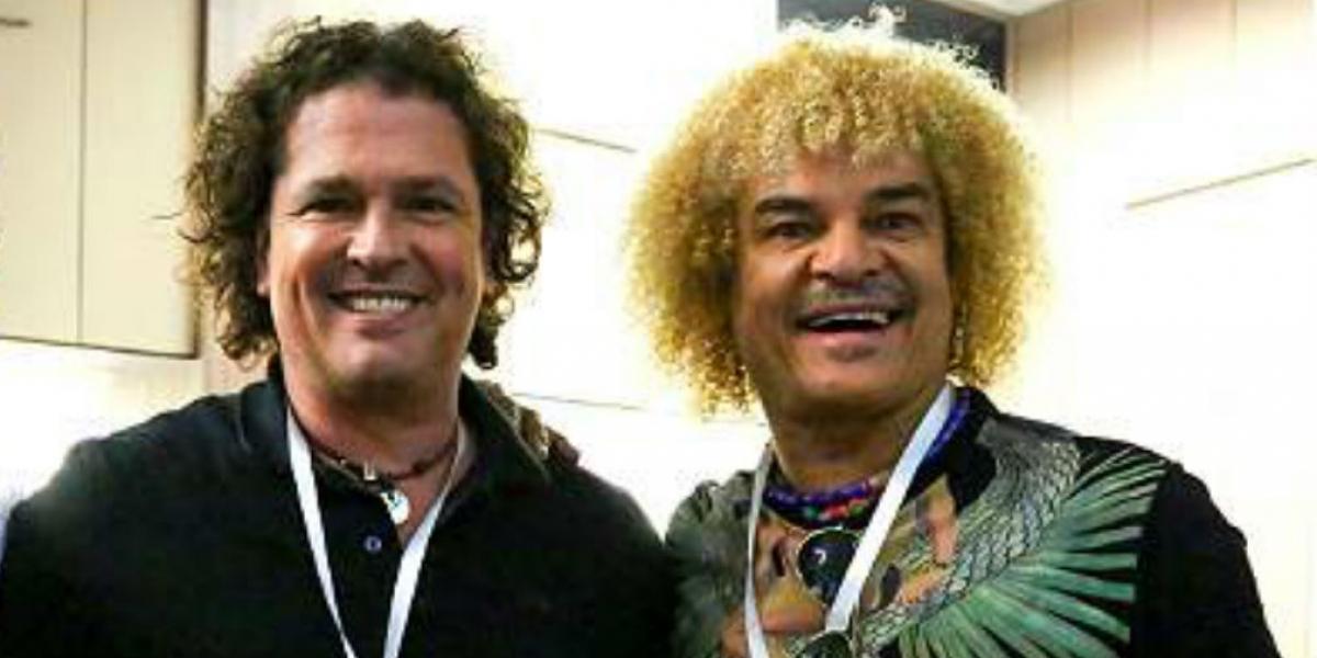 Carlos Vives y Carlos 'El Pibe' Valderrama.