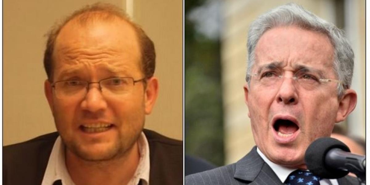 Daniel Samper Ospina y Álvaro Uribe Vélez.