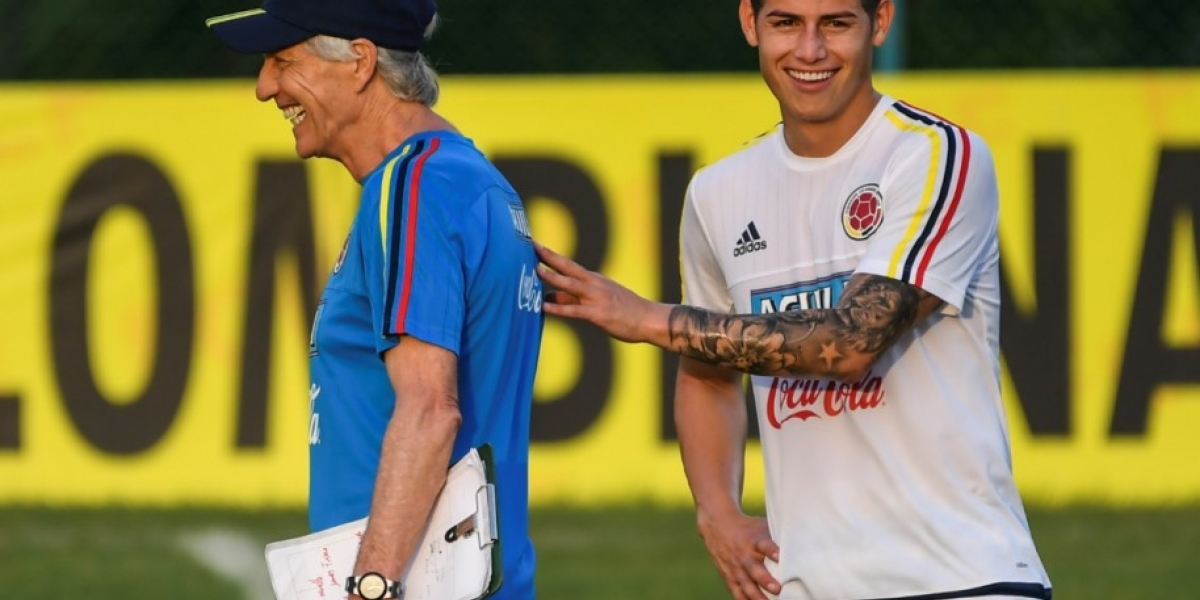 José Pékerman y James Rodríguez